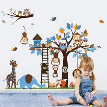 Sticker perete copacul animalelor de la zoo