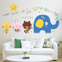 Concertul animalelor mici – sticker de perete