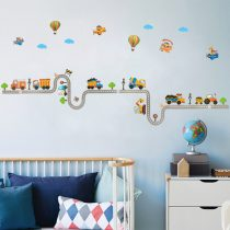 Sticker perete maşini de lucru, balon cu aer cald