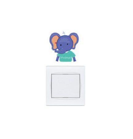 Pui micuți de animale – sticker de perete pentru întrerupător 4.
