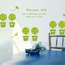 Sticker perete viaţa cu flori