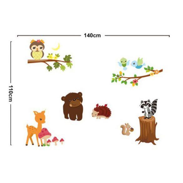 Sticker perete animalele din pădure