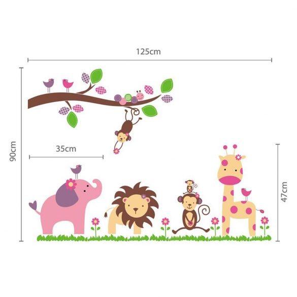 Sticker de perete cu animale din Africa