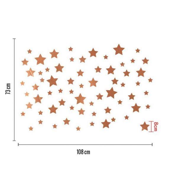 Sticker de perete cu cerul înstelat auriu