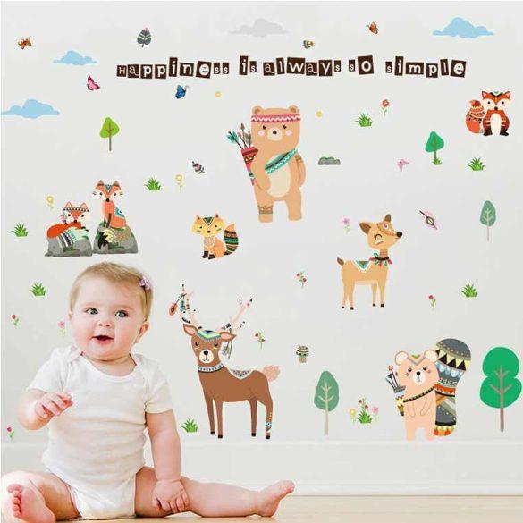 Sticker de perete animale indieni