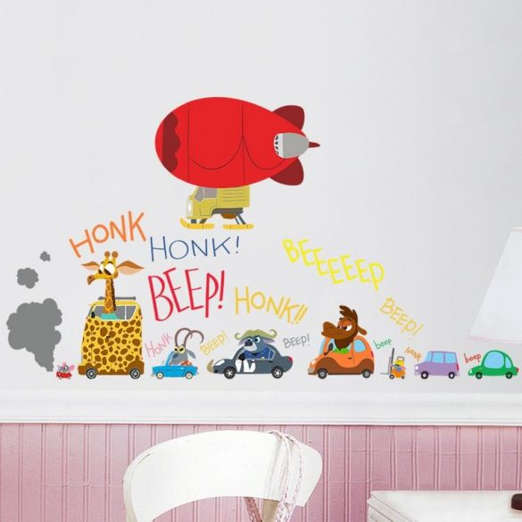 Sticker de perete animale în autovehicule