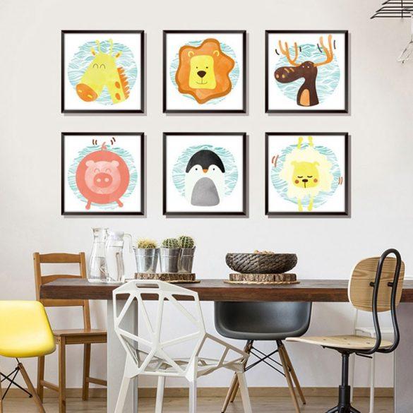 Animale, sticker de perete compus din 6 poze