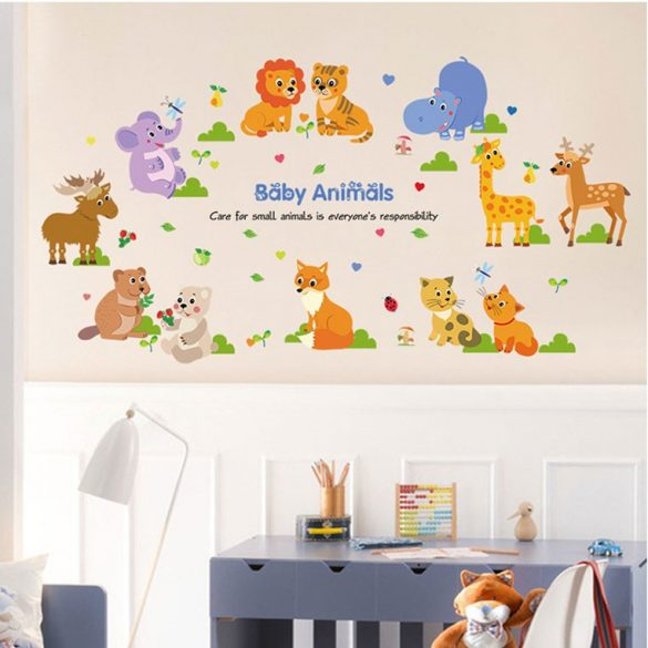 Pui de animale – sticker de perete