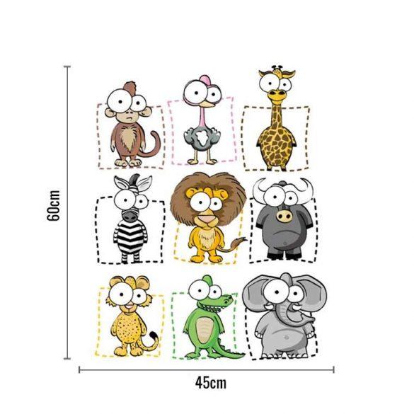 Sticker de perete cu imagini de animale