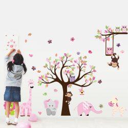 Forfotă colorată de animale pentru tot peretele