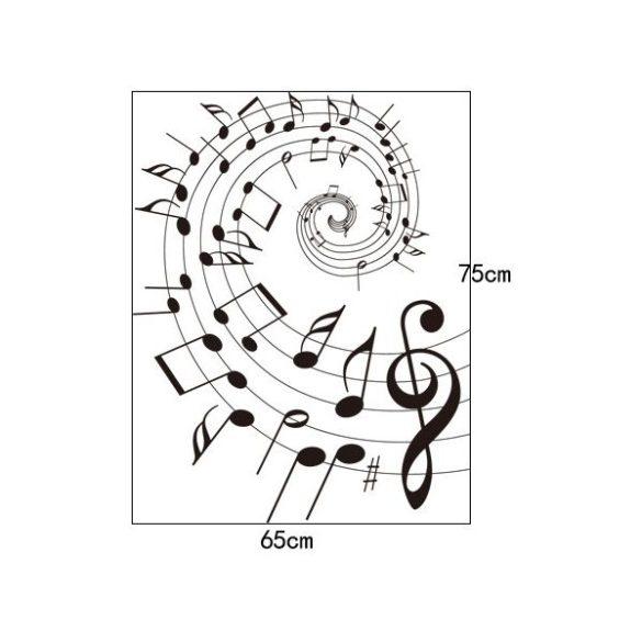 Sticker perete sub vraja muzicii