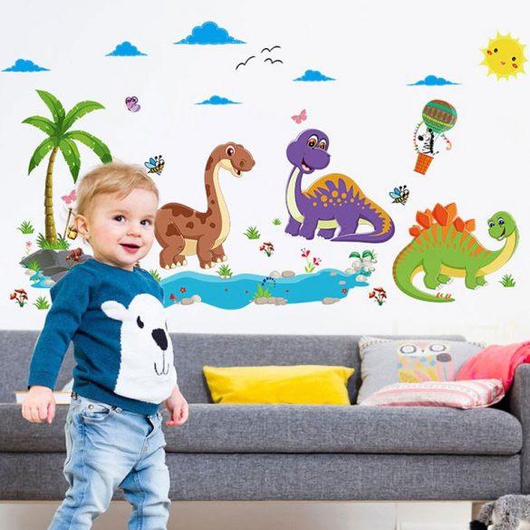 Insula dinozaurilor prietenoși – sticker de perete