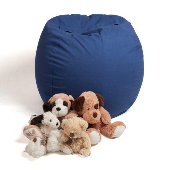 Fotoliu Bean Bag cu suport pentru pluș - Albastru - MAXI