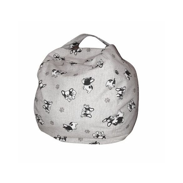 Fotoliu Bean Bag cu suport pentru pluș - Bulldog - MINI