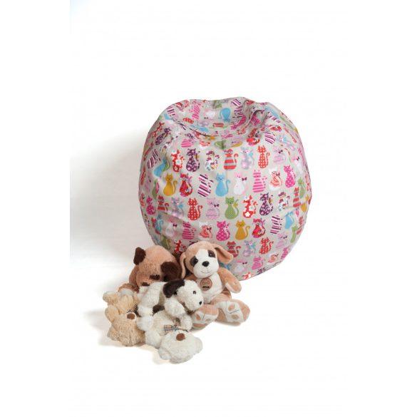 Fotoliu Bean Bag cu suport pentru pluș - Pisici colorate - MINI