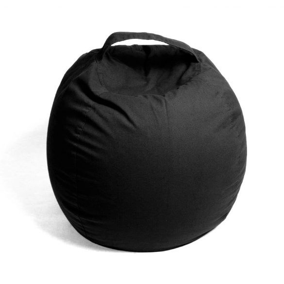 Fotoliu Bean Bag cu suport pentru pluș - Negru - NORMAL