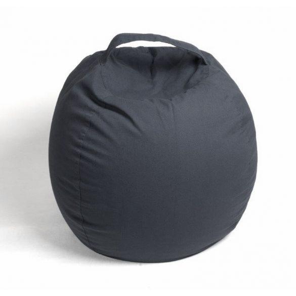 Fotoliu Bean Bag cu suport pentru pluș - Gri - MINI