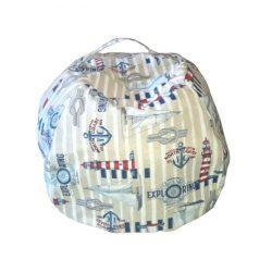 Fotoliu Bean Bag cu suport pentru pluș - Stil marinar - NORMAL