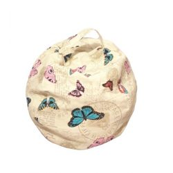 Fotoliu Bean Bag cu suport pentru pluș - Fluture - MINI