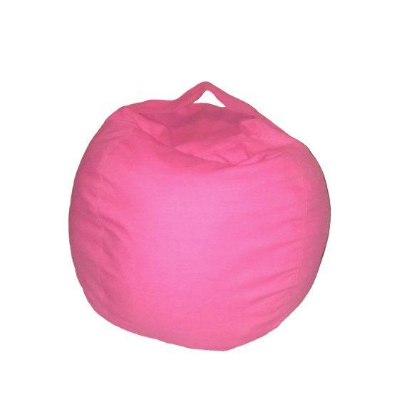 Fotoliu Bean Bag cu suport pentru pluș - Roz - MINI