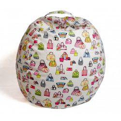 Fotoliu Bean Bag cu suport pentru pluș - Genți colorate - MAXI