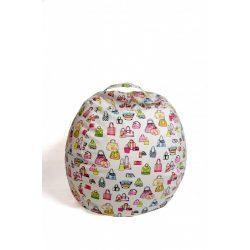 Fotoliu Bean Bag cu suport pentru pluș - Genți colorate - MINI