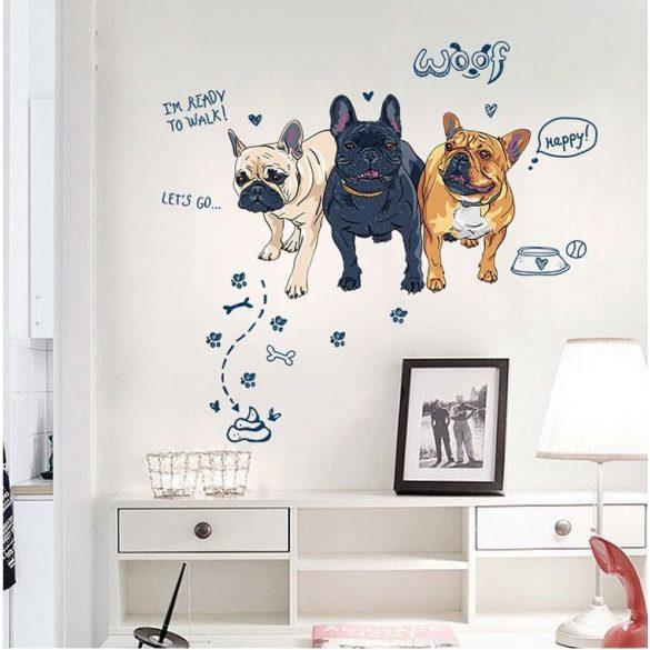 Stiker de perete bulldog