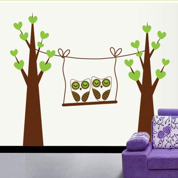 Sticker de perete bufniță legănând
