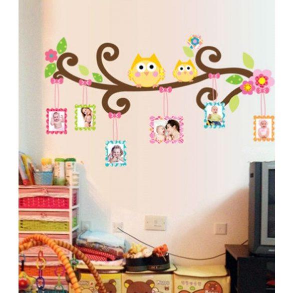 Sticker perete bufniţe cu rame