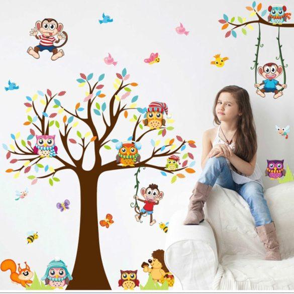 Terenul de joacă al bufnițelor și a maimuțelor – sticker de perete