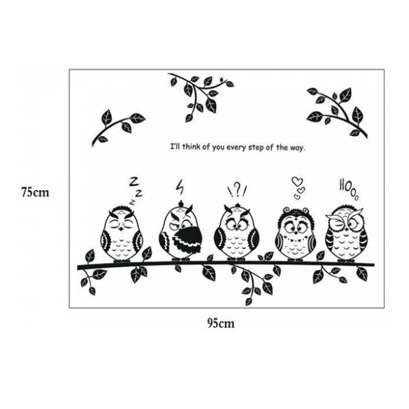 Sticker perete bufniţe