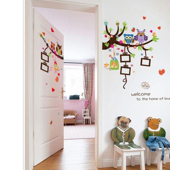 Locuința bufnițelor – sticker de perete cu poze