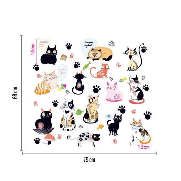 Sticker de perete lumea pisicilor