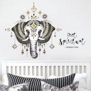 Sticker de perete elefant decorat