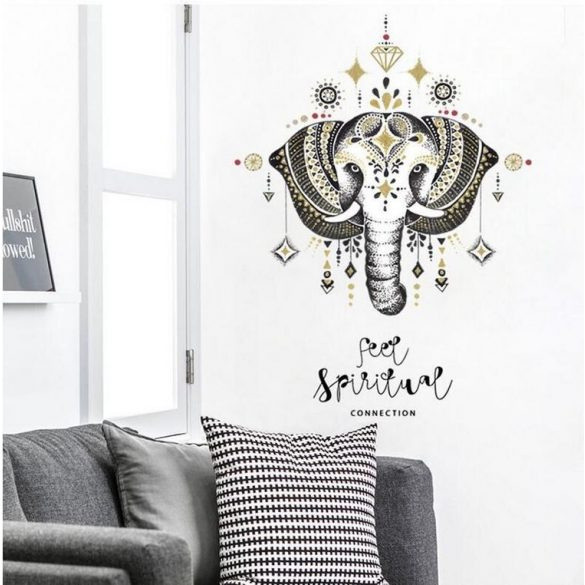 Sticker de perete elefant decorat