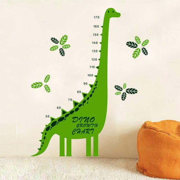 Sticker perete cu dinozaur pentru măsurarea înălţimii