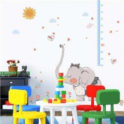 Sticker de perete măsurător de înălțime fată de elefant