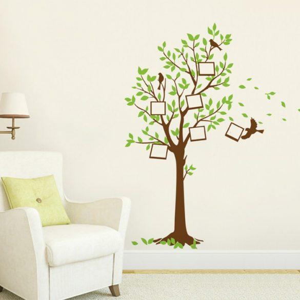 Sticker de perete ramă cu fotografiile noastre în formă copac