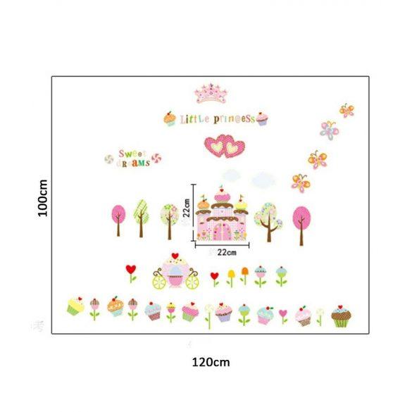 Sticker perete fosforescent – lumea dulciurilor