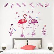 Stciker de perete cu lacul flamingilor
