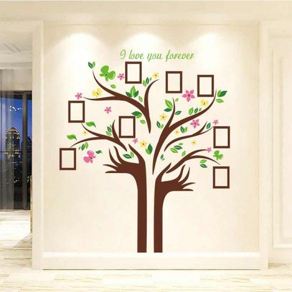 Sticker de perete copac cu flori din fotografiile voastre