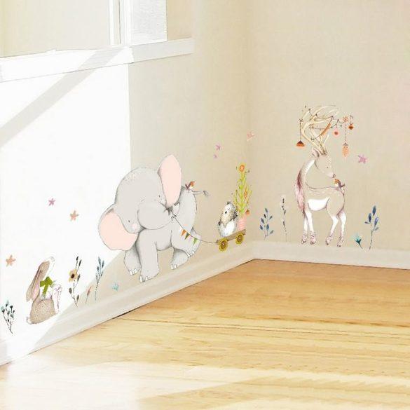 Sticker de perete elefant micuț