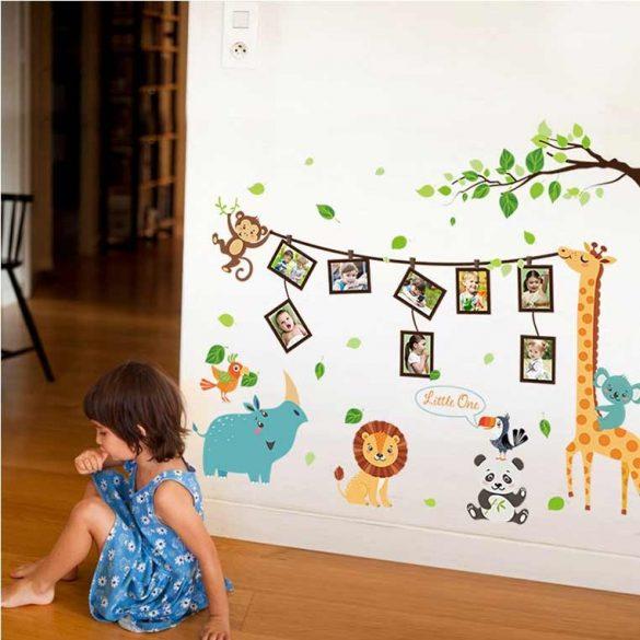 Sticker de perete ramă fotografii cu animale