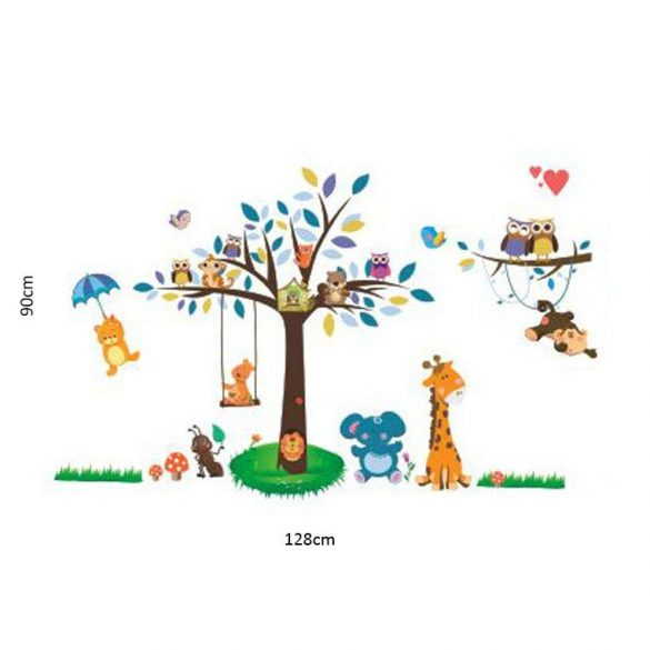 Sticker de perete cu picnicul animalelor