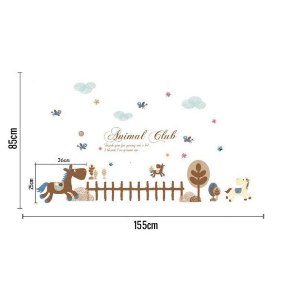 Sticker de perete cu cai