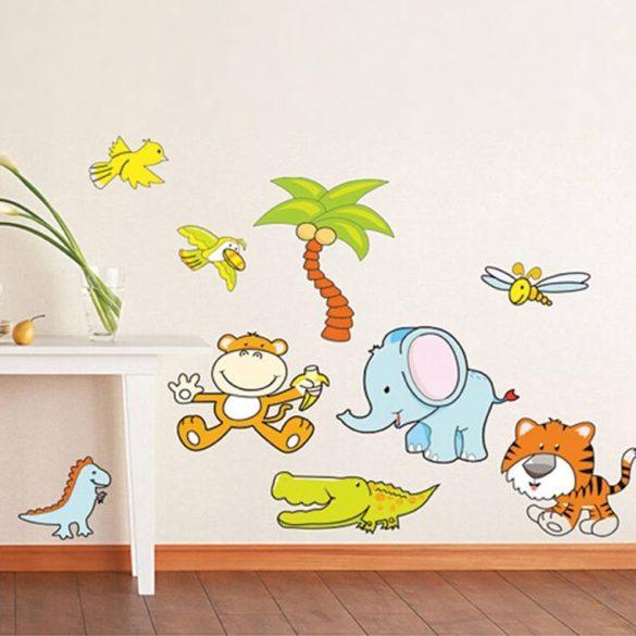Sticker de perete: MĂIMUȚE, ELEFANT, CROCODIL, DINO