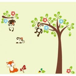 Sticker de perete copacul maimuţelor