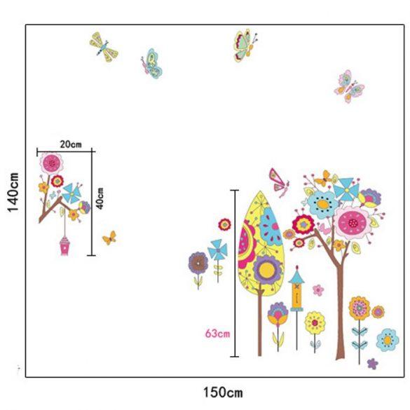 Sticker perete grădină artistică