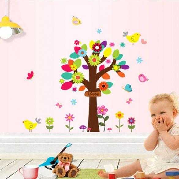 Grădina de primăvară a păsărelelor – sticker de perete