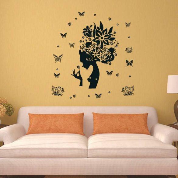 Sticker perete siluetă feminină